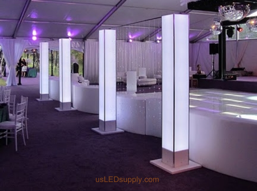 image gallery illuminated columns