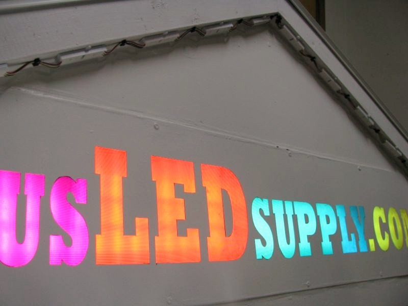 usLEDsupply Sign created with RGB Flexible LED Strip.