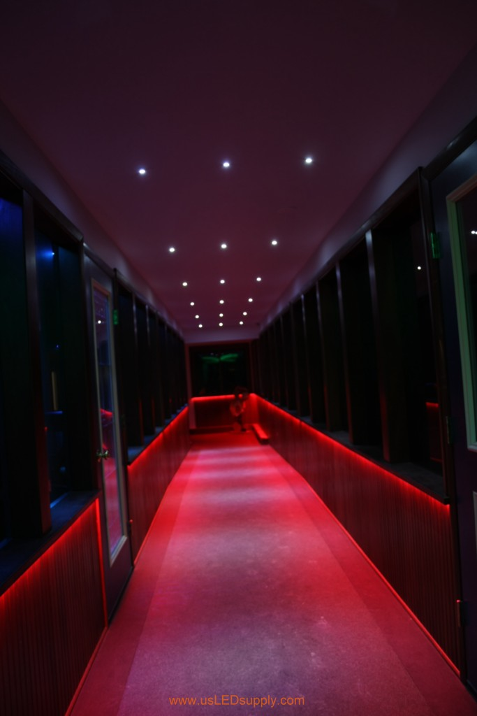 lighting a hallway. Hallway Accent Lighting With RGB Flexible LED Strips And 4 Zones Of Color. A