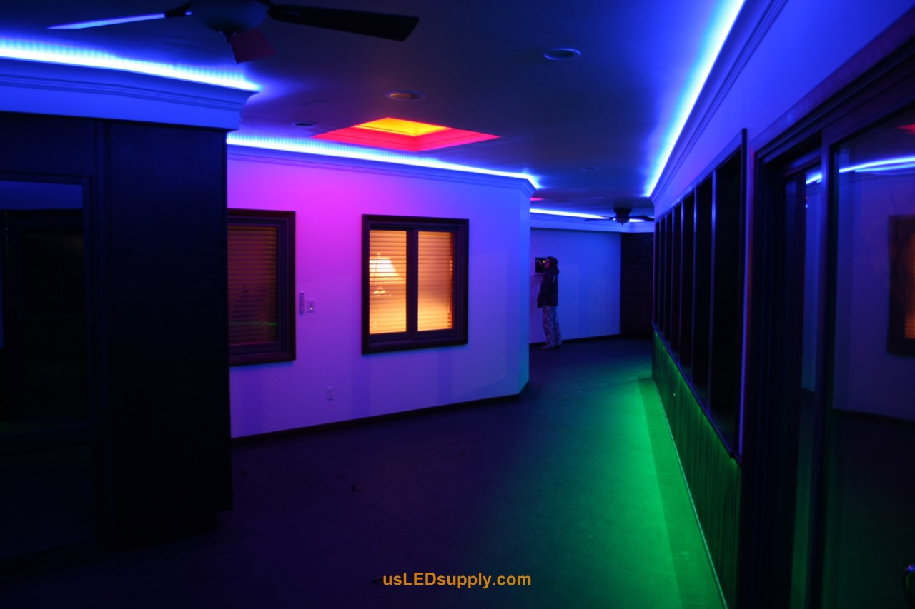 Hallway accent lighting hallway accent lighting with rgb flexible led strips and 4 zones of color aloadofball Images