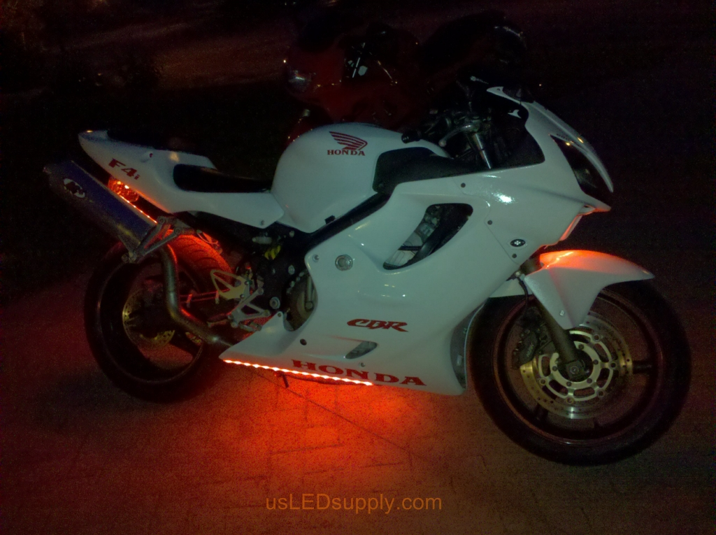 Honda motorcycle honda motorcycle with rgb led strips for neat lighting effect mozeypictures Gallery
