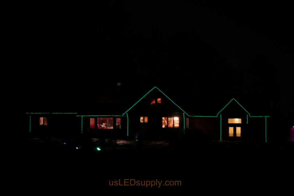 Dim setting for the LED House Outline uses 15 watts of power.