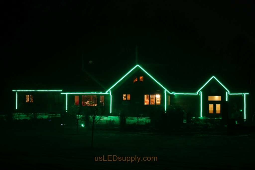 bright setting for the led house outline uses 150 watts of power
