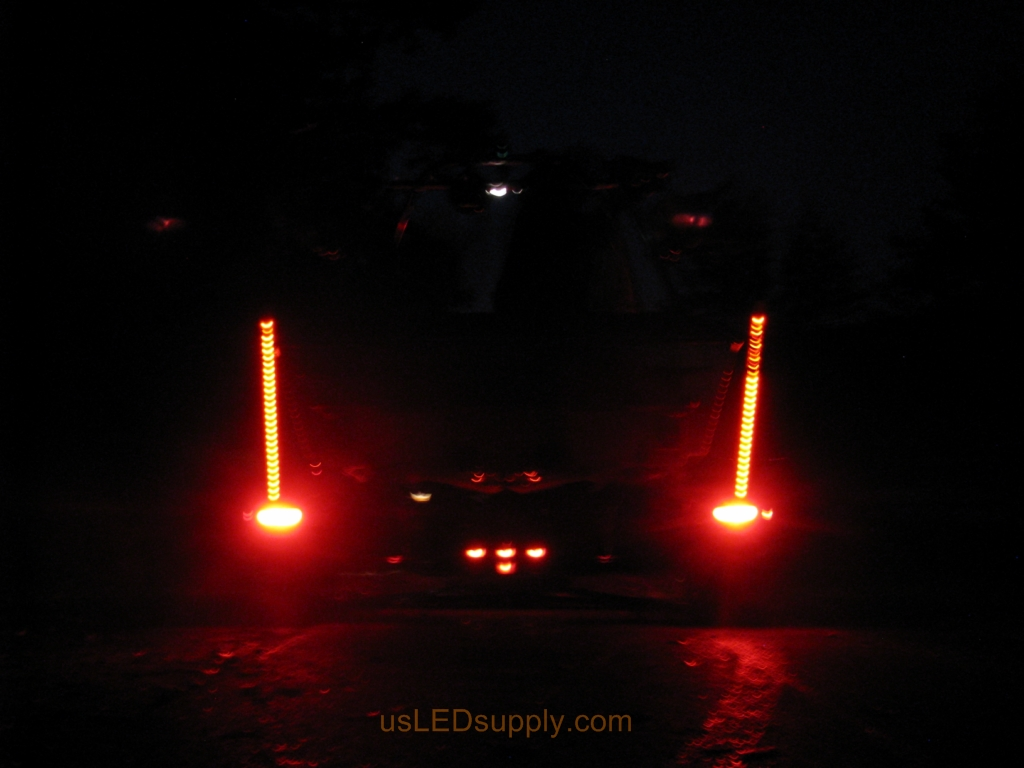 Malibu Boat Trailer Lights Are Easy To Understand And Change Led Lit Pylons Red When Truck Brakes
