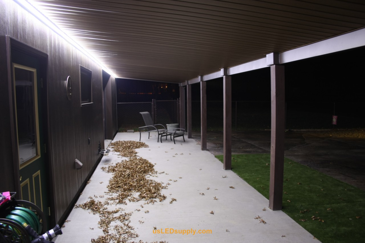 outside patio lighting ideas. outside patio with coolnatural white flexible led strip for lighting ideas