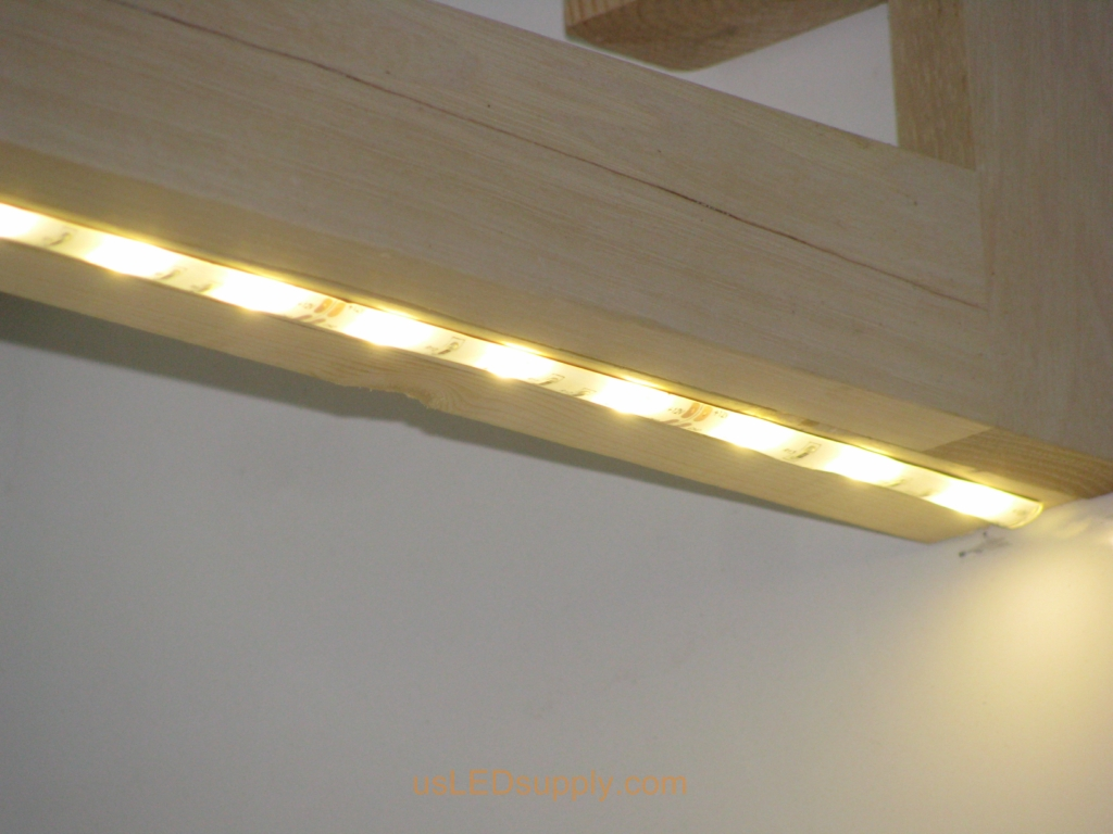 Undercabinet lights you can power the strips from a 12v power supply hidden inside the cabinets or the basementattic undercabinet led lighting aloadofball Choice Image