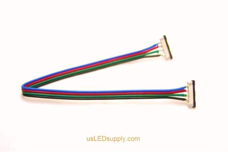 Strip-wire-strip RGB flexible LED Strip splice connector