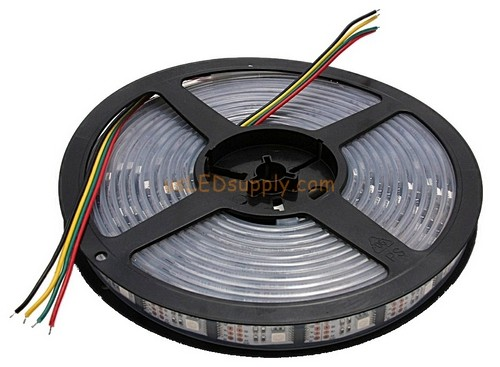 5V RGB Flexible LED Strip 16' Roll (Digital Point Control) (160x WS-2801 chips / 160 Led) Un-Coated (Non waterproof)