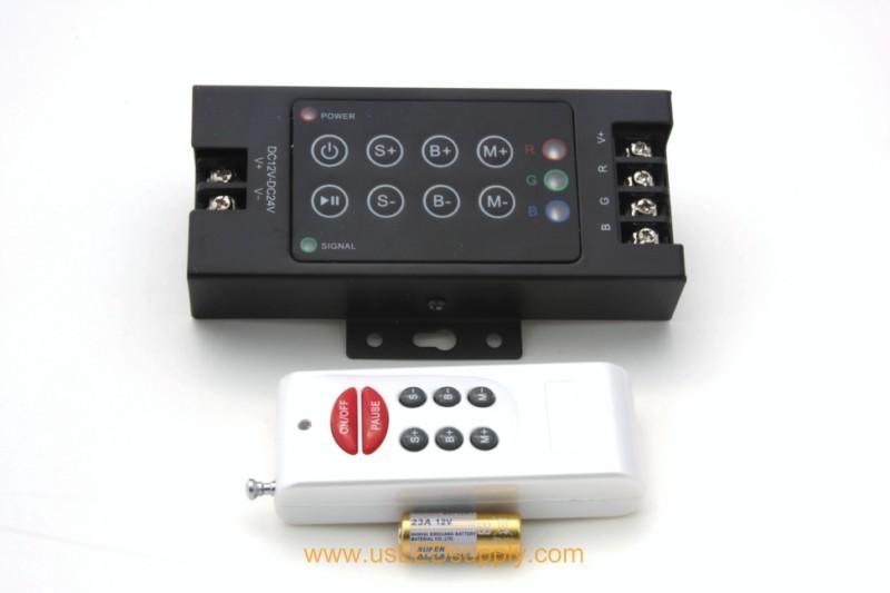 RGB RF Remote Controller 4A 8x Key