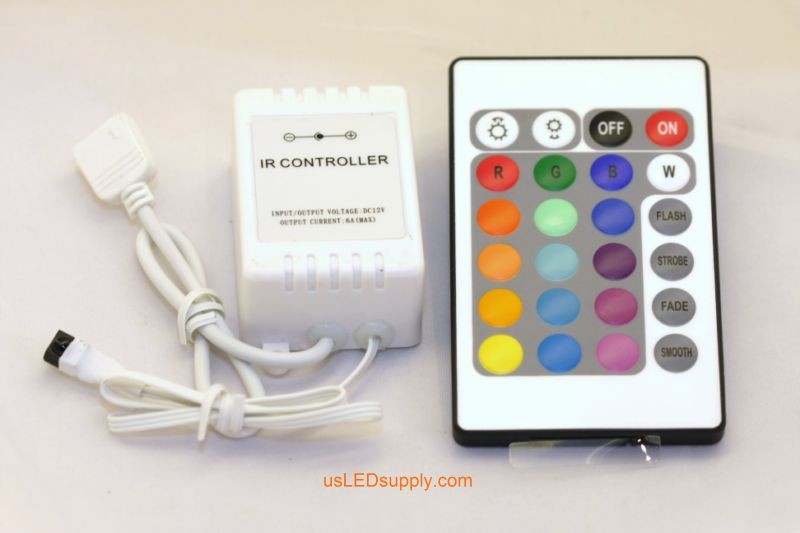 RGB Remote Control 2A (24x Button Remote) with IR reciever
