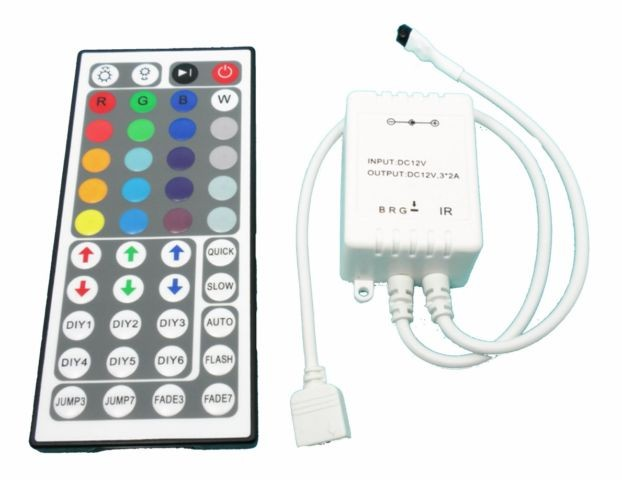 RGB Remote Control 2A (44x Button Remote) with IR receiver