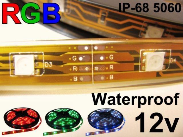 12V RGB Waterproof Flexible LED strip 16' Roll