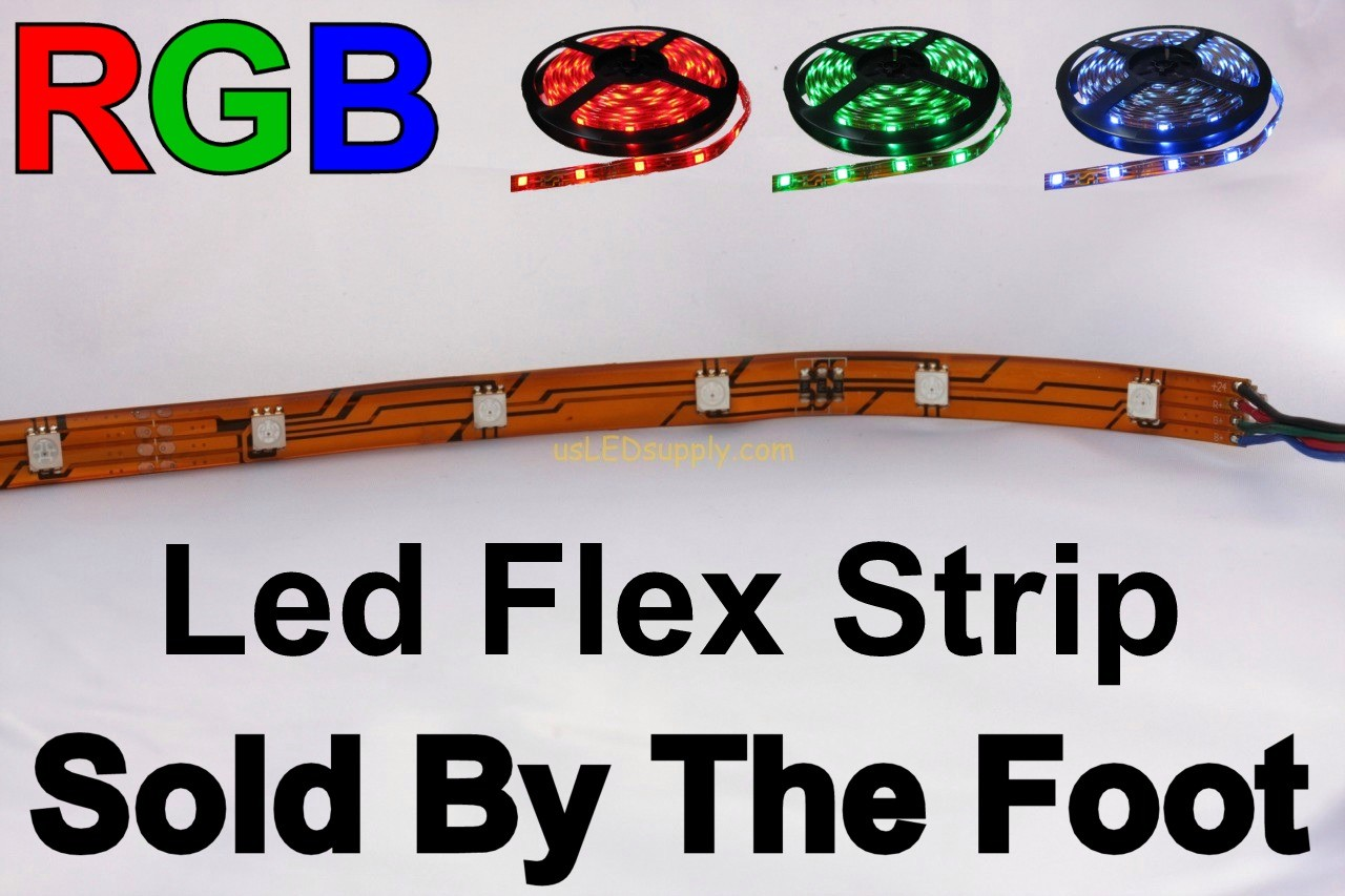 12V RGB Flexible LED Strip (Sold by the Foot)