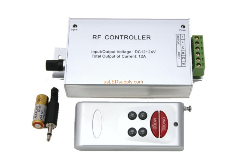 RGB RF Remote Controller with Audio 4A 6x Key