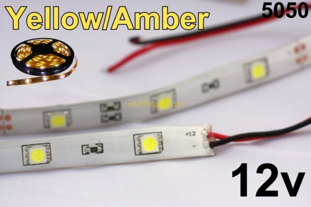 12v yellowamber flexible led strip 16 roll aloadofball Choice Image