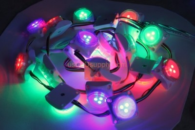 12V LED RGB Digital Point Modules Round (pictures are of standard spacing modules)