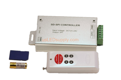 12V RGB LED Digital Point Controller with SD Card 2801