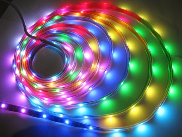 12v RGB Flexible LED Strip 16' Roll (Digital Point Control)