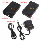 12V 1800mA Portable Battery Pack (with charger)