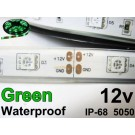 12V Green waterproof flexible LED strip 16' roll