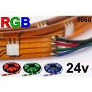 24V RGB Flexible LED Strip 16' Roll