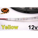 12V Yellow/Amber 3528 Flexible LED Strip 16' Roll