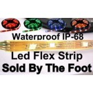 Waterproof IP-68 Flexible LED strip Sold by the Foot