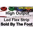 12V Single Color Flexible LED Strip (High Output) 60/M 300/Roll (Sold by the Foot)