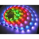 12V RGB Flexible LED Strip 16' Roll (Digital Point Control) (WS-2811) (60x chips / 180 Led) IP-65