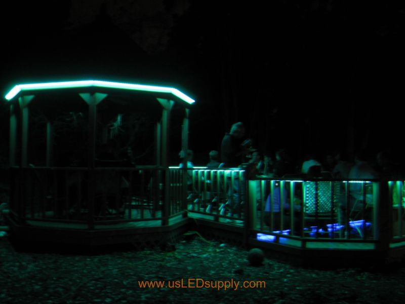 LED Deck Lighting - appreciated during an outdoor dinner party.