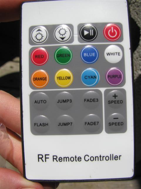 RF 20 key RGB LED remote.