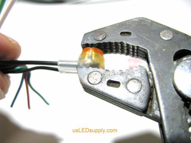 Crimp butt connector