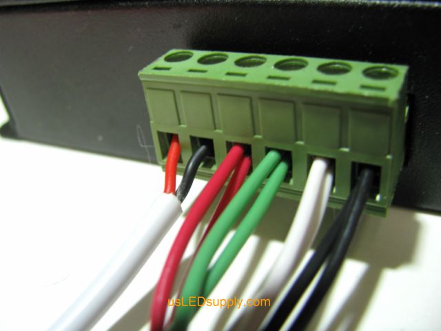 Two wires in each terminal connection port