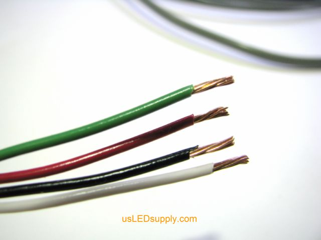 Small wires of control cable stripped approximately 1/8