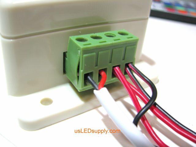 Connect more than one wire into each terminal on the terminal block.