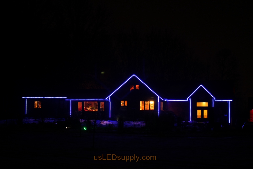 Color Changing Rgb Led Strips Outline A House For All Year