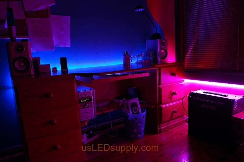 Kid S Room Uses One Controller To Create Two Diffe Color Zones Of Light By Switching Rgb